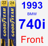 Front Wiper Blade Pack for 1993 BMW 740i - Premium