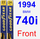 Front Wiper Blade Pack for 1994 BMW 740i - Premium