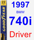 Driver Wiper Blade for 1997 BMW 740i - Premium
