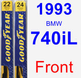 Front Wiper Blade Pack for 1993 BMW 740iL - Premium