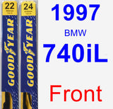 Front Wiper Blade Pack for 1997 BMW 740iL - Premium