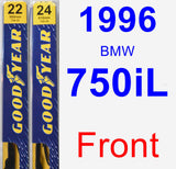 Front Wiper Blade Pack for 1996 BMW 750iL - Premium