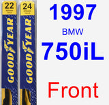 Front Wiper Blade Pack for 1997 BMW 750iL - Premium