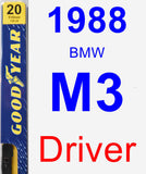Driver Wiper Blade for 1988 BMW M3 - Premium