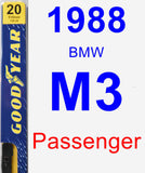 Passenger Wiper Blade for 1988 BMW M3 - Premium