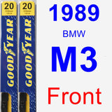 Front Wiper Blade Pack for 1989 BMW M3 - Premium