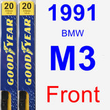 Front Wiper Blade Pack for 1991 BMW M3 - Premium