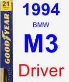 Driver Wiper Blade for 1994 BMW M3 - Premium