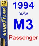 Passenger Wiper Blade for 1994 BMW M3 - Premium