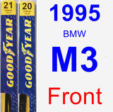Front Wiper Blade Pack for 1995 BMW M3 - Premium
