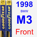 Front Wiper Blade Pack for 1998 BMW M3 - Premium