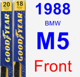 Front Wiper Blade Pack for 1988 BMW M5 - Premium