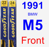 Front Wiper Blade Pack for 1991 BMW M5 - Premium