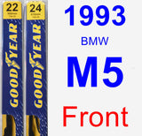 Front Wiper Blade Pack for 1993 BMW M5 - Premium