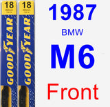 Front Wiper Blade Pack for 1987 BMW M6 - Premium