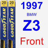 Front Wiper Blade Pack for 1997 BMW Z3 - Premium