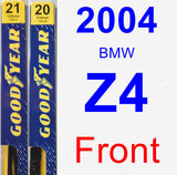 Front Wiper Blade Pack for 2004 BMW Z4 - Premium