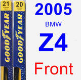 Front Wiper Blade Pack for 2005 BMW Z4 - Premium