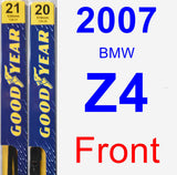 Front Wiper Blade Pack for 2007 BMW Z4 - Premium