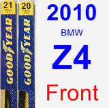 Front Wiper Blade Pack for 2010 BMW Z4 - Premium