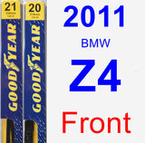 Front Wiper Blade Pack for 2011 BMW Z4 - Premium