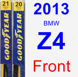 Front Wiper Blade Pack for 2013 BMW Z4 - Premium