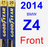 Front Wiper Blade Pack for 2014 BMW Z4 - Premium