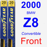 Front Wiper Blade Pack for 2000 BMW Z8 - Premium