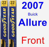 Front Wiper Blade Pack for 2007 Buick Allure - Premium