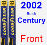 Front Wiper Blade Pack for 2002 Buick Century - Premium