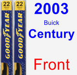 Front Wiper Blade Pack for 2003 Buick Century - Premium