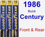 Front & Rear Wiper Blade Pack for 1986 Buick Century - Premium