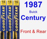 Front & Rear Wiper Blade Pack for 1987 Buick Century - Premium
