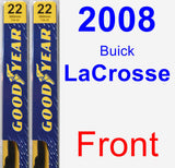 Front Wiper Blade Pack for 2008 Buick LaCrosse - Premium