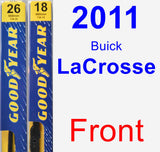 Front Wiper Blade Pack for 2011 Buick LaCrosse - Premium