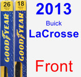 Front Wiper Blade Pack for 2013 Buick LaCrosse - Premium