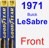 Front Wiper Blade Pack for 1971 Buick LeSabre - Premium
