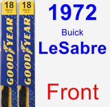 Front Wiper Blade Pack for 1972 Buick LeSabre - Premium