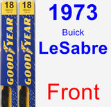 Front Wiper Blade Pack for 1973 Buick LeSabre - Premium