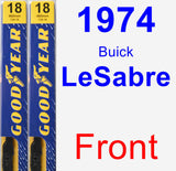 Front Wiper Blade Pack for 1974 Buick LeSabre - Premium