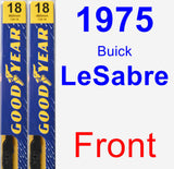 Front Wiper Blade Pack for 1975 Buick LeSabre - Premium