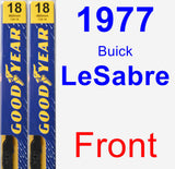 Front Wiper Blade Pack for 1977 Buick LeSabre - Premium