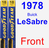 Front Wiper Blade Pack for 1978 Buick LeSabre - Premium