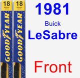 Front Wiper Blade Pack for 1981 Buick LeSabre - Premium