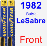 Front Wiper Blade Pack for 1982 Buick LeSabre - Premium