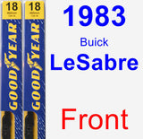 Front Wiper Blade Pack for 1983 Buick LeSabre - Premium
