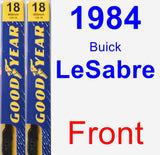 Front Wiper Blade Pack for 1984 Buick LeSabre - Premium