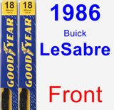 Front Wiper Blade Pack for 1986 Buick LeSabre - Premium