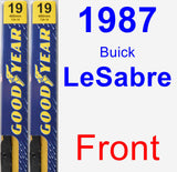 Front Wiper Blade Pack for 1987 Buick LeSabre - Premium