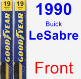 Front Wiper Blade Pack for 1990 Buick LeSabre - Premium